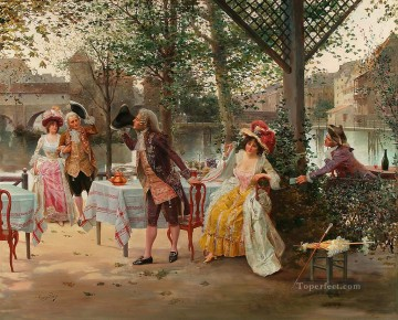 Spain Oil Painting - billet doux Spain Bourbon Dynasty Mariano Alonso Perez