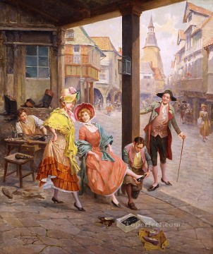 lsurent d un marchand de chausseures Spain Bourbon Dynasty Mariano Alonso Perez Oil Paintings