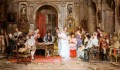 Wedding Party Rococo Spain Bourbon Dynasty Mariano Alonso Perez