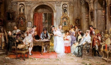 Mariano Alonso Perez Painting - Wedding Party Rococo Spain Bourbon Dynasty Mariano Alonso Perez