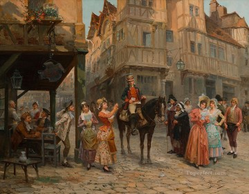 Spain Oil Painting - the postman Spain Bourbon Dynasty Mariano Alonso Perez