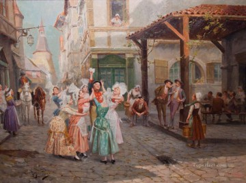 Spain Oil Painting - whose letters Spain Bourbon Dynasty Mariano Alonso Perez