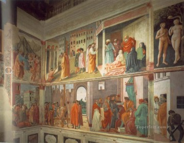 Frescoes in the Cappella Brancacci right view Christian Quattrocento Renaissance Masaccio Oil Paintings