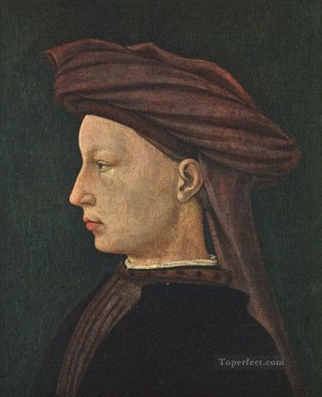 Man Works - Profile Portrait of a Young Man Christian Quattrocento Renaissance Masaccio
