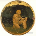 Putto and a Small Dog back side of the Berlin Tondo Christian Quattrocento Renaissance Masaccio