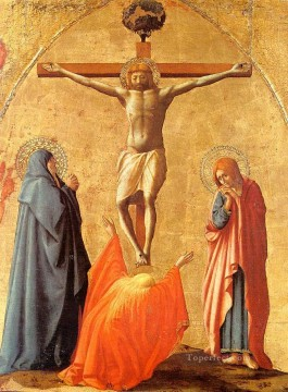 Crucifixion Christian Quattrocento Renaissance Masaccio Oil Paintings