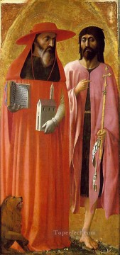 Christian Oil Painting - St Jerome and St John the Baptist Christian Quattrocento Renaissance Masaccio