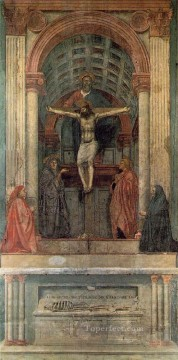 Trinity Christian Quattrocento Renaissance Masaccio Oil Paintings