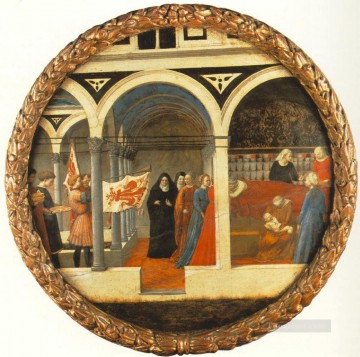 Christian Oil Painting - Plate of Nativity Berlin Tondo Christian Quattrocento Renaissance Masaccio