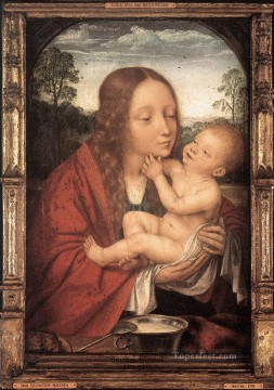 virgin and child Painting - Virgin and Child in a Landscape Quentin Matsys