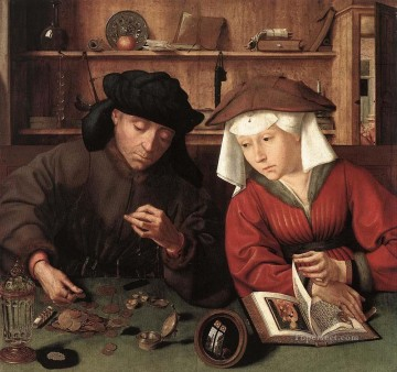 Wife Deco Art - The Moneylender and his Wife Quentin Matsys