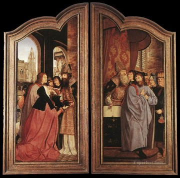 Altarpiece Painting - St Anne Altarpiece closed Quentin Matsys