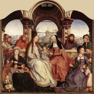 Altarpiece Painting - St Anne Altarpiece central panel Quentin Matsys