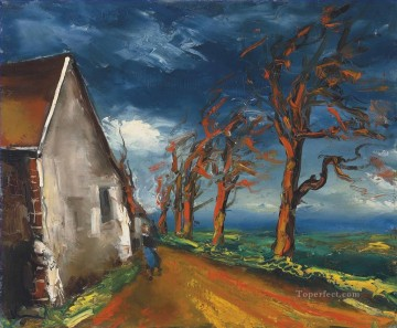 Artworks by 350 Famous Artists Painting - Character in a village street Maurice de Vlaminck
