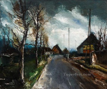 Artworks by 350 Famous Artists Painting - HAMLET, ALONG A ROAD Maurice de Vlaminck