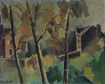 Artworks by 350 Famous Artists Painting - Houses and trees Maurice de Vlaminck