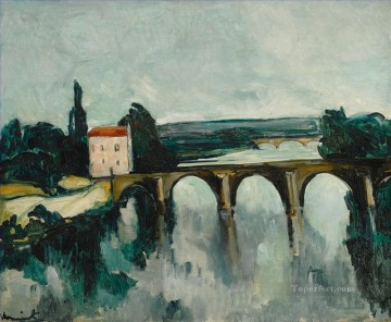Artworks by 350 Famous Artists Painting - OLD BRIDGE OF LIMAY Maurice de Vlaminck