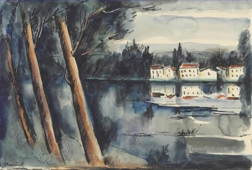Artworks by 350 Famous Artists Painting - Riverside Maurice de Vlaminck