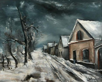 Artworks by 350 Famous Artists Painting - SNOW LANDSCAPE Maurice de Vlaminck