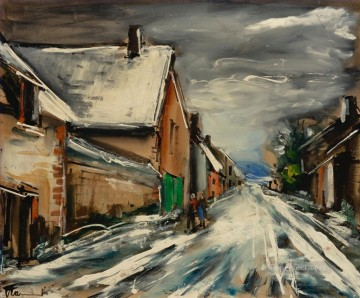 Artworks by 350 Famous Artists Painting - STREET IN WINTER Maurice de Vlaminck