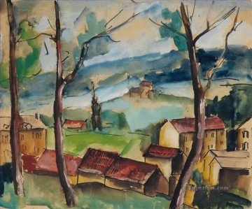 Artworks by 350 Famous Artists Painting - Village view Maurice de Vlaminck