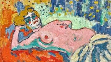 Artworks by 350 Famous Artists Painting - Nude in couche Maurice de Vlaminck