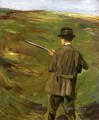 a hunter in the dunes 1914 Max Liebermann German Impressionism
