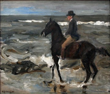 Artworks by 350 Famous Artists Painting - rider on the beach 1904 Max Liebermann German Impressionism