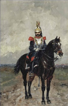 Artworks by 350 Famous Artists Painting - A French cuirassier Ernest Meissonier Academic