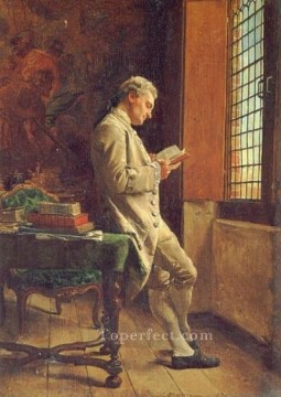 White Art - The Reader in White classicist Jean Louis Ernest Meissonier