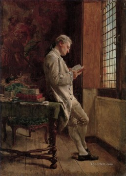 Artworks by 350 Famous Artists Painting - The Reader in White classicist Jean Louis Ernest Meissonier Ernest Meissonier Academic