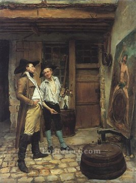 Jean Louis Ernest Meissonier Painting - The Sign Painter classicist Jean Louis Ernest Meissonier