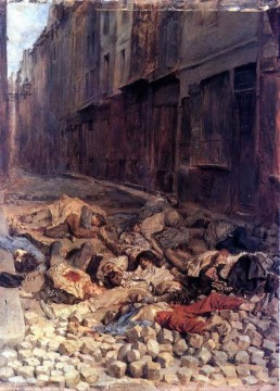 Jean Louis Ernest Meissonier Painting - The Barricade classicist Jean Louis Ernest Meissonier