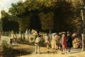 Playing Jeu De Boules classicist Jean Louis Ernest Meissonier