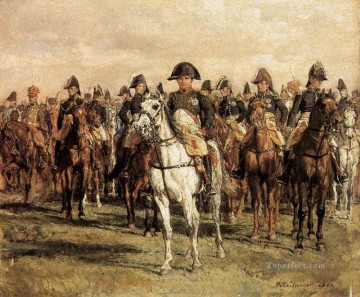 Jean Louis Ernest Meissonier Painting - Napoleon And His Staff military Jean Louis Ernest Meissonier