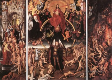 Last Judgment Triptych open 1467 Netherlandish Hans Memling Oil Paintings