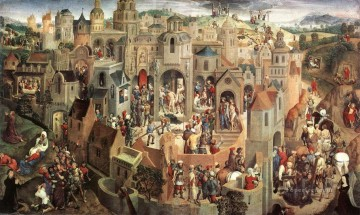 baptism of christ Painting - Scenes from the Passion of Christ 1470 Netherlandish Hans Memling