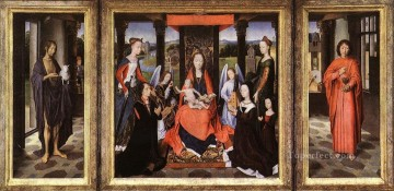 The Donne Triptych 1475 Netherlandish Hans Memling Oil Paintings