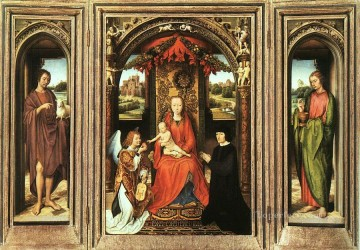Triptych 1485 Netherlandish Hans Memling Oil Paintings