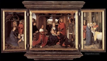 Triptych of Jan Floreins 1479 Netherlandish Hans Memling Oil Paintings