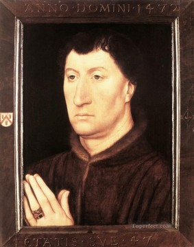 Portrait of Gilles Joye 1472 Netherlandish Hans Memling Oil Paintings