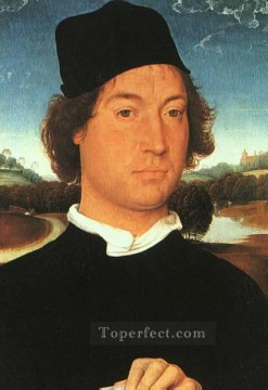 Hans Memling Painting - Portrait of a Young Man 1480 Netherlandish Hans Memling