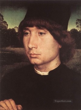 Hans Memling Painting - Portrait of a Young Man before a Landscape 1480 Netherlandish Hans Memling