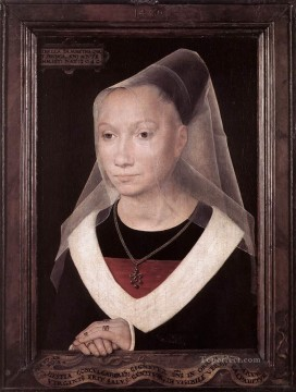 Hans Memling Painting - Portrait of a Young Woman 1480 Netherlandish Hans Memling