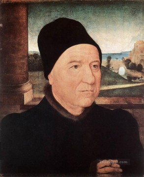 Hans Memling Painting - Portrait of an Old Man 1470 Netherlandish Hans Memling