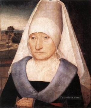 Hans Memling Painting - Portrait of an Old Woman 1470 Netherlandish Hans Memling
