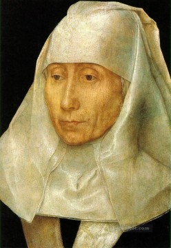 Hans Memling Painting - Portrait of an Old Woman Netherlandish Hans Memling