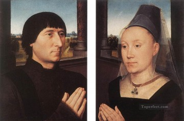 Hans Memling Painting - Portraits of Willem Moreel and His Wife 1482 Netherlandish Hans Memling