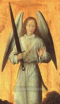 Hans Memling Painting - The Archangel Michael 1479 Netherlandish Hans Memling