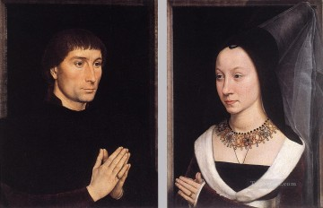 Tommaso Portinari and his Wife Netherlandish Hans Memling Oil Paintings